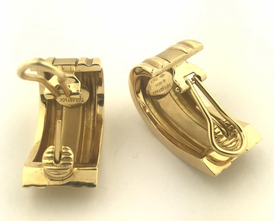 TIFFANY & CO.,18 Karat Gold Extra Large Atlas Ear Clips - 2
