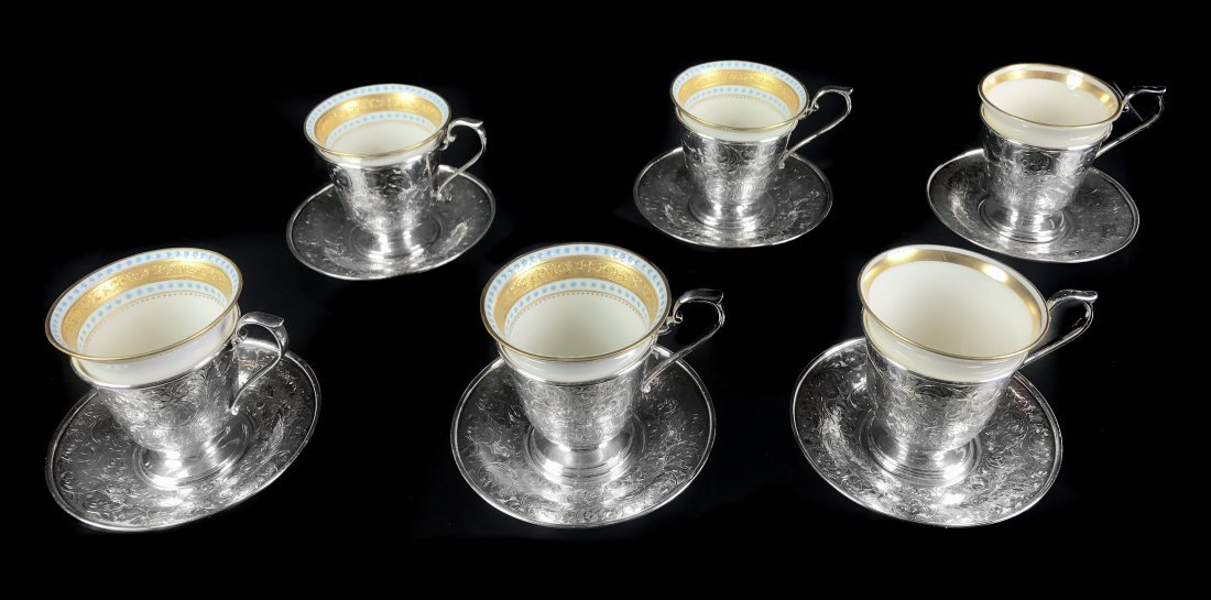 SHREVE CRUMP AND LOW STERLING SILVER DEMITASSE SET