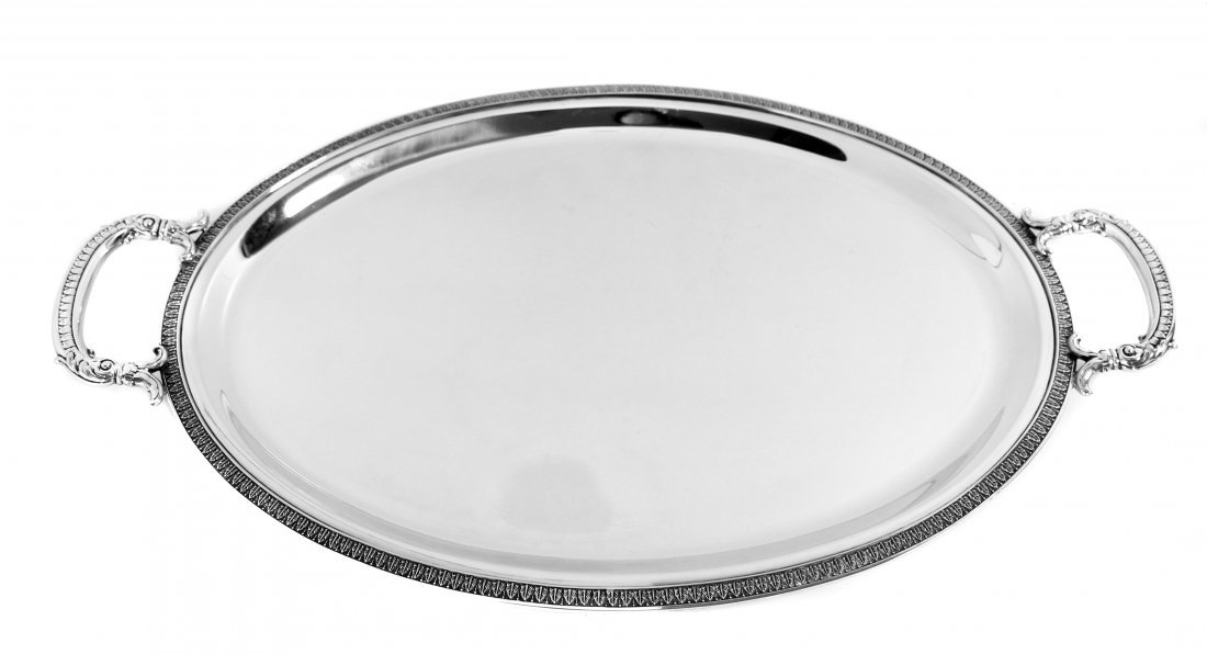 ITALIAN CONTINENTAL SILVER SERVING TRAY