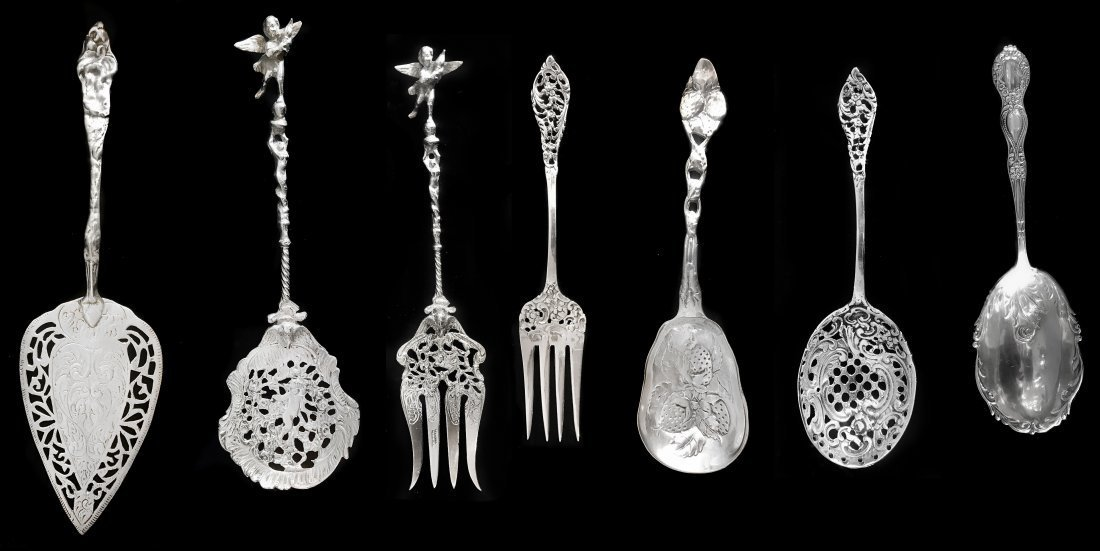 STERLING SILVER AND SILVER PLATED SERVING PIECES