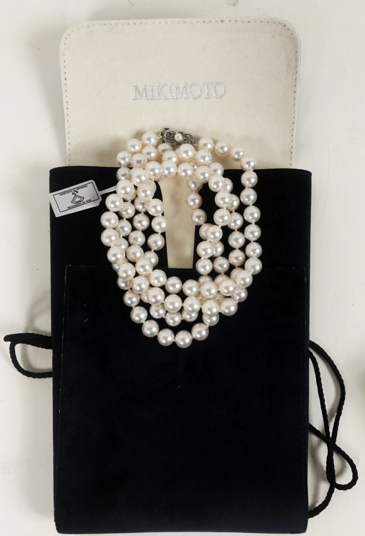 MIKIMOTO, CULTURED PEARL NECKLACE - 4