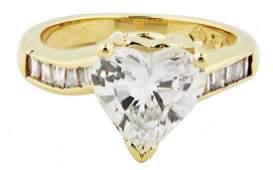 GIA CERTIFIED 1.55 CARAT HEART SHAPED DIAMOND RING