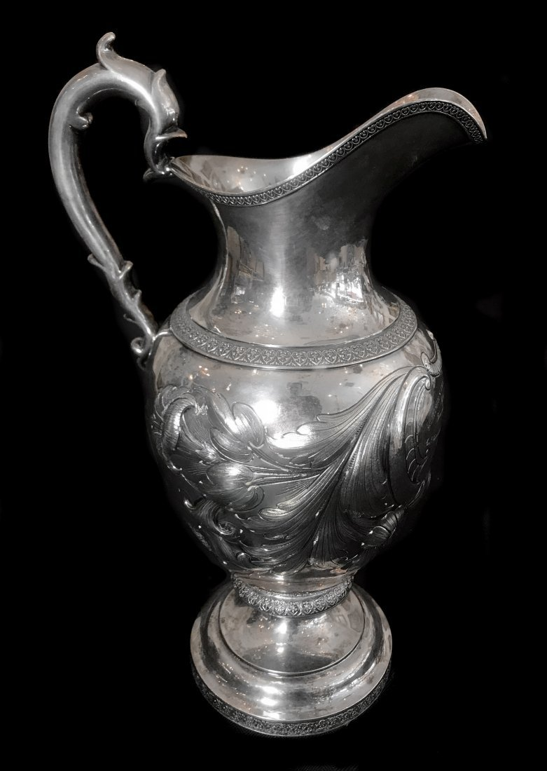 HISTORIC PRESENTATION STERLING SILVER PITCHER