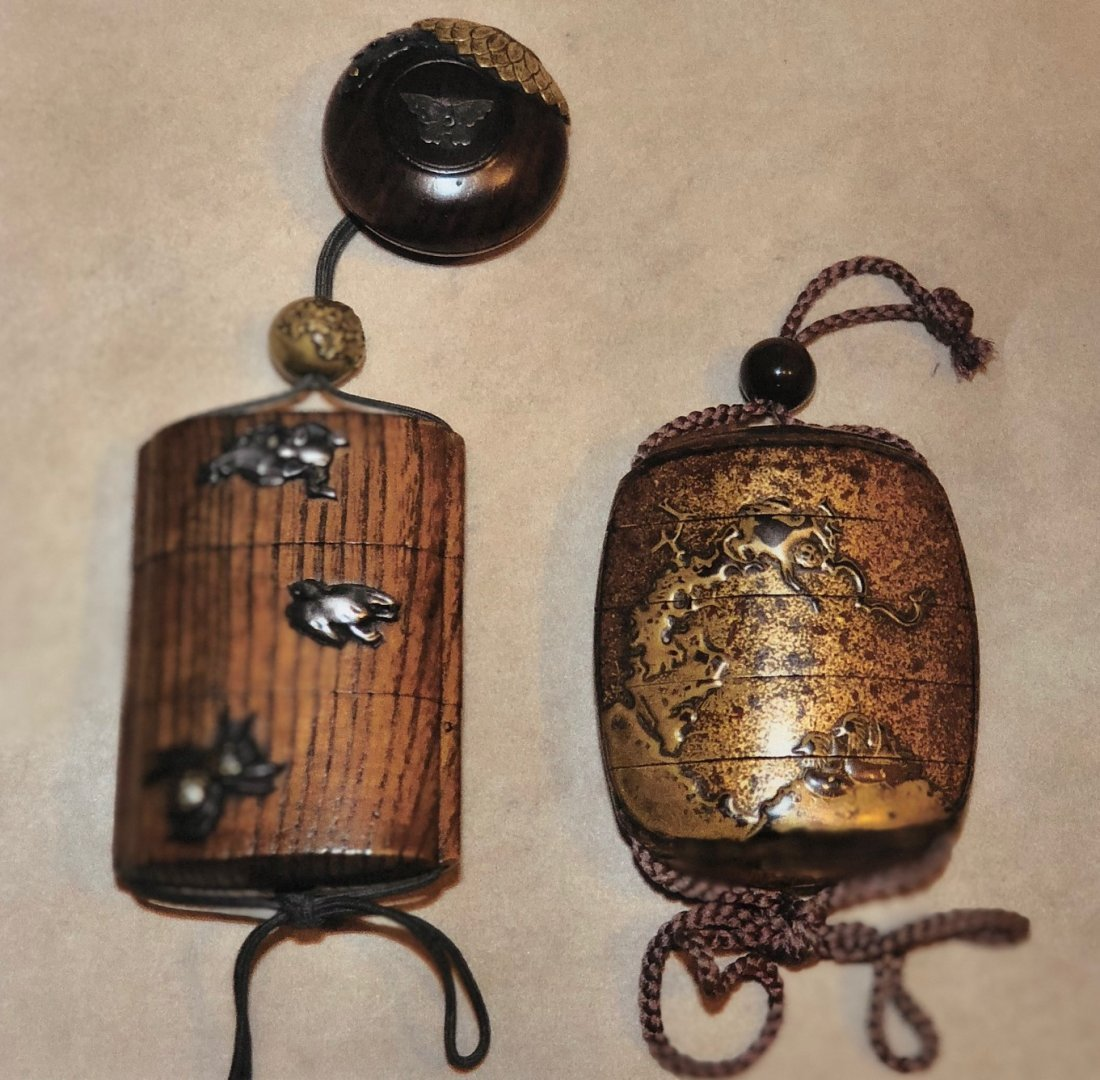 TWO ANTIQUE JAPANESE INRO