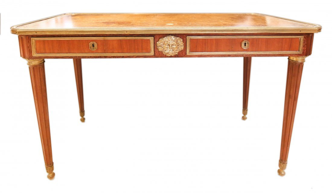 BUREAU PLAT PARIS, CIRCA 1880 (FRENCH WRITING DESK)