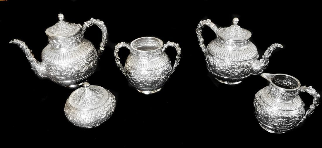 J.E. CALDWELL, STERLING SILVER TEA & COFFEE SERVICE