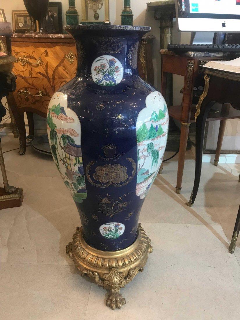 GILT-BRONZE MOUNTED CHINESE EXPORT PORCELAIN VASE - 6