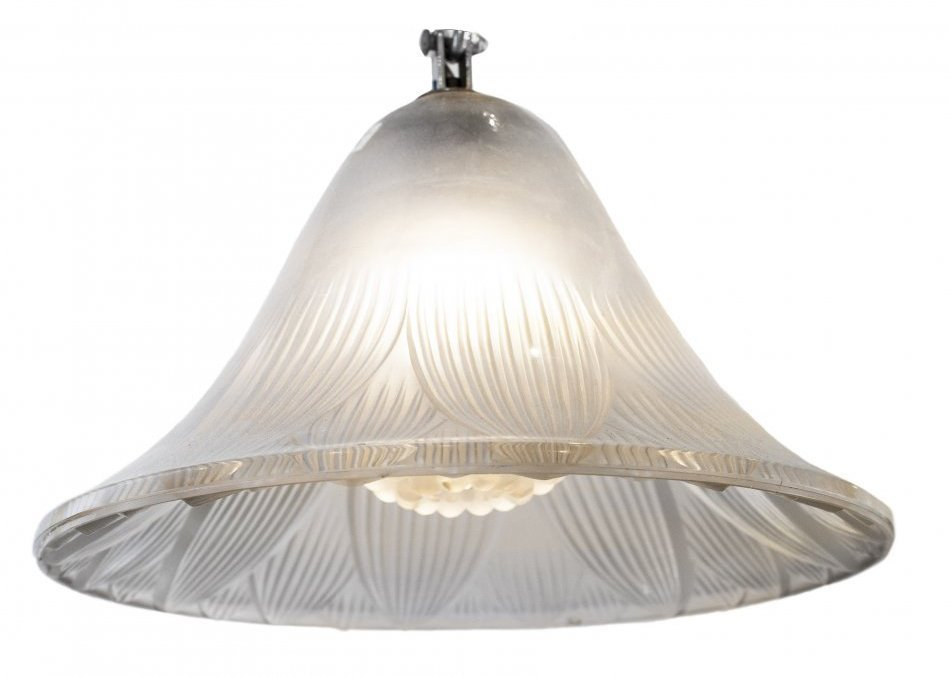 """RENE LALIQUE CLEAR MOLDED """"TREVISE"""" PLAFONNIER"""