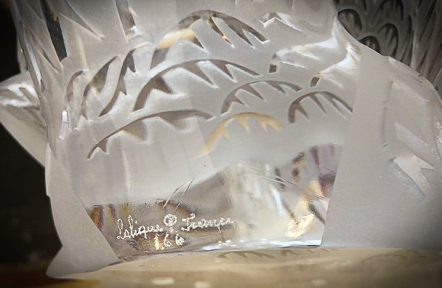 LALIQUE FRANCE, 20TH CENTURY LARGE PAIR OF SWANS - 4