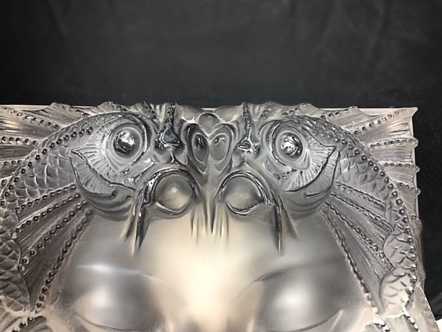 """LALIQUE FRANCE, 20TH CENTURY RARE AND LARGE """"MASQUE"""" - 2"""