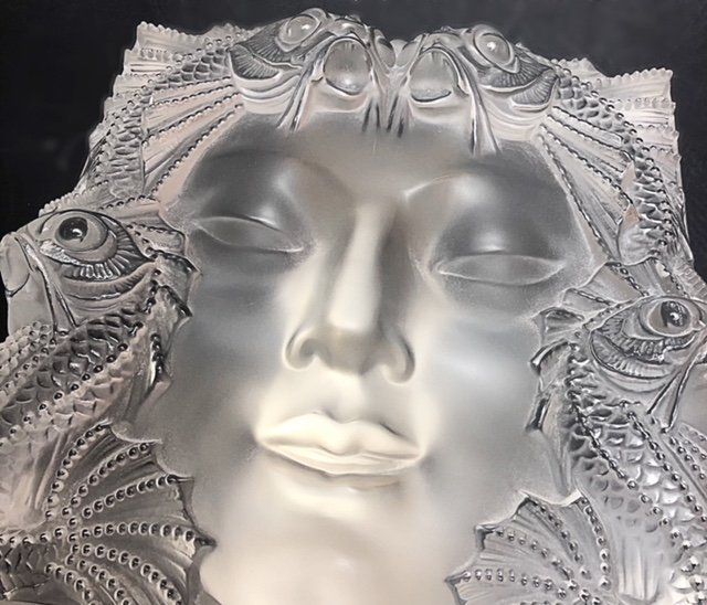 """LALIQUE FRANCE, 20TH CENTURY RARE AND LARGE """"MASQUE"""" - 3"""
