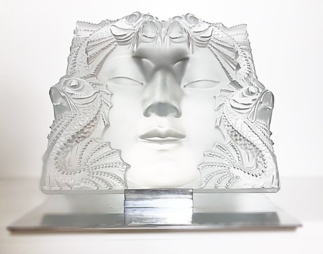 """LALIQUE FRANCE, 20TH CENTURY RARE AND LARGE """"MASQUE"""" - 4"""