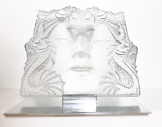 """LALIQUE FRANCE, 20TH CENTURY RARE AND LARGE """"MASQUE"""" - 5"""