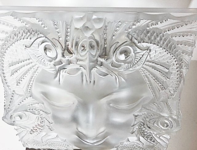 """LALIQUE FRANCE, 20TH CENTURY RARE AND LARGE """"MASQUE"""" - 6"""