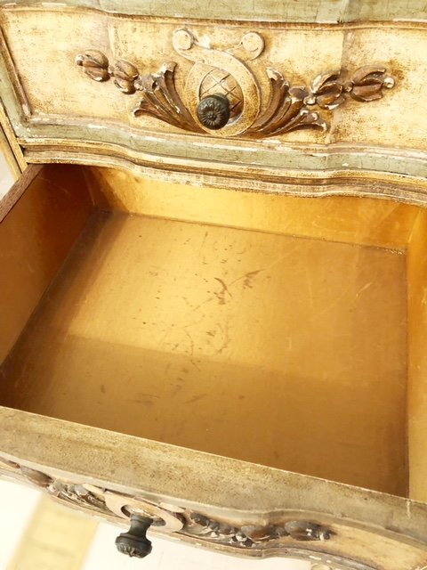 ITALIAN ROCOCO STYLE PAINTED TALL CHEST OF DRAWERS - 5