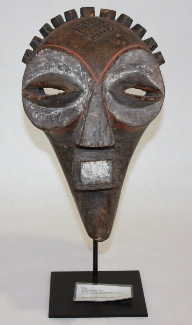 KIEFWEBE SOCIETY CEREMONIAL DANCE MASK - carved wood. - 2