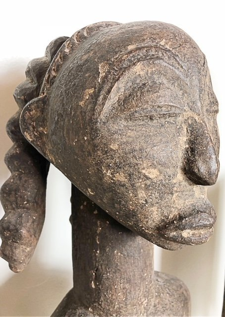 AFRICAN WOOD FEMALE FIGURE & A ZOOMORPHIC IBIS - 5