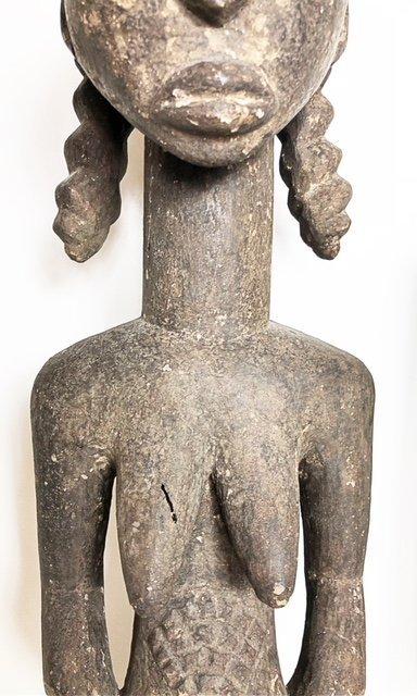 AFRICAN WOOD FEMALE FIGURE & A ZOOMORPHIC IBIS - 6