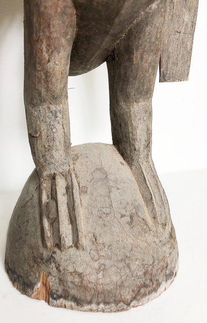 AFRICAN WOOD FEMALE FIGURE & A ZOOMORPHIC IBIS - 8