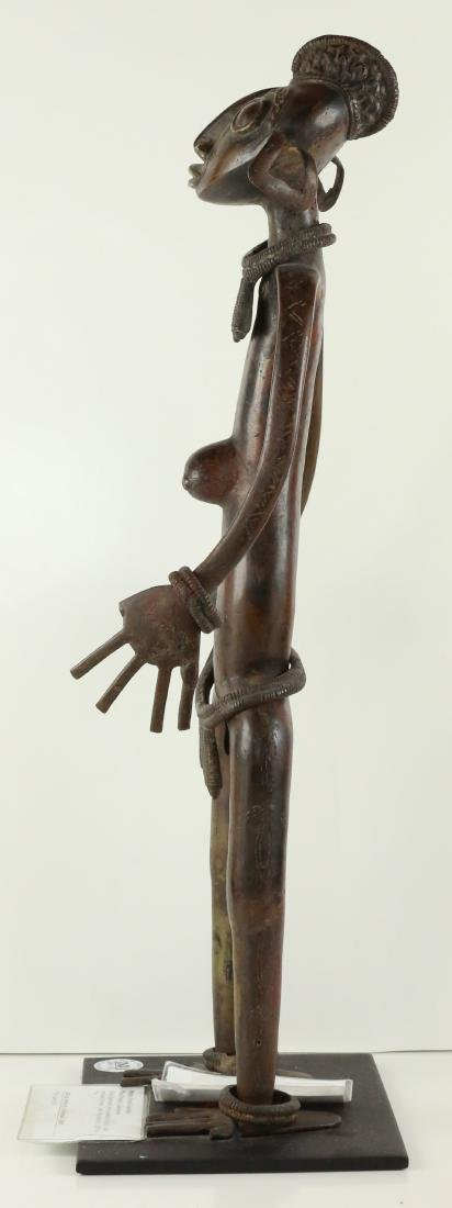 STYLE OF ROYAL MALE PALM WINE GUARDIAN FIGURE LOST WAX