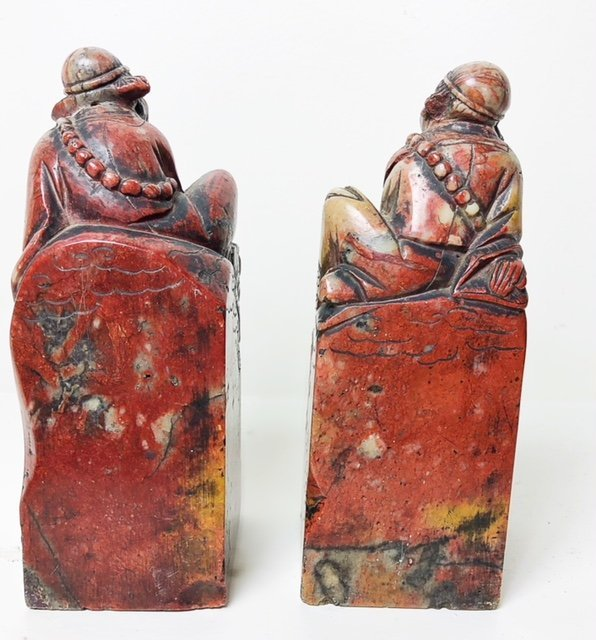 PAIR OF CHINESE CARVED SOAPSTONE SEALS - 4
