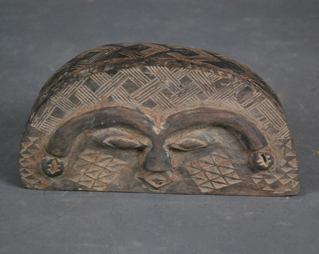 AFRICAN COPPER MTD WOOD ROYAL FACE MASK & DEMILUNE BOX - 2