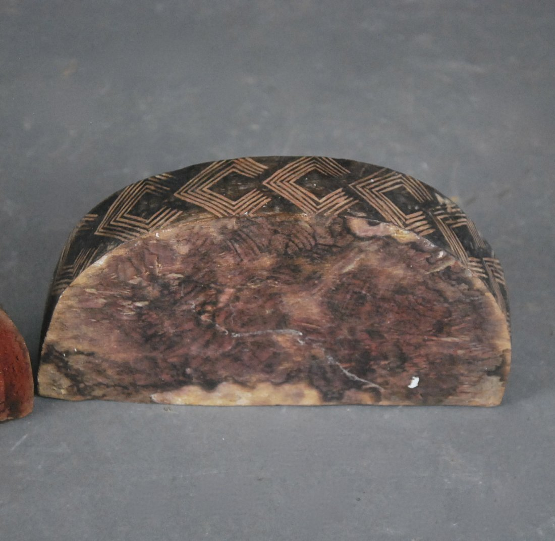 AFRICAN COPPER MTD WOOD ROYAL FACE MASK & DEMILUNE BOX - 3