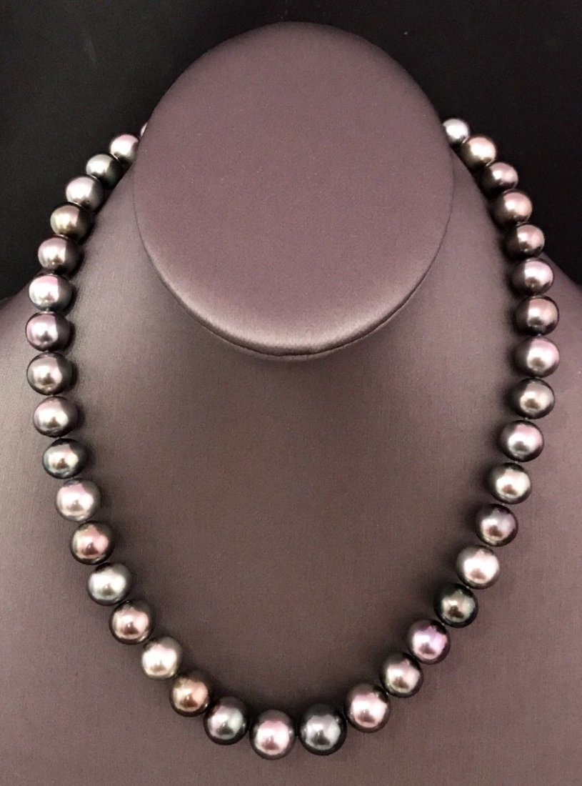 SOUTH SEA TAHITIAN PEARL DIAMOND NECKLACE