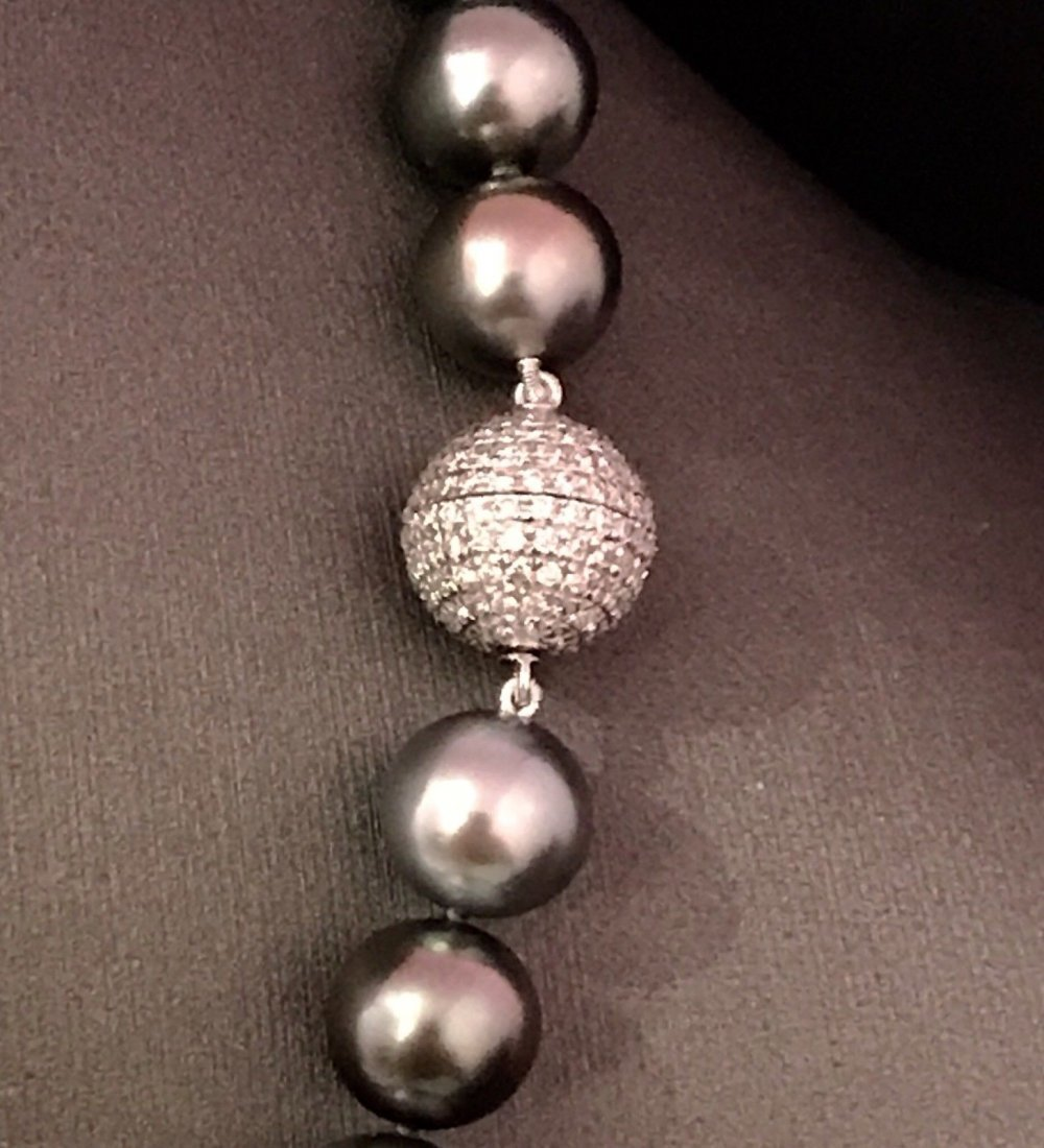 SOUTH SEA TAHITIAN PEARL DIAMOND NECKLACE - 2