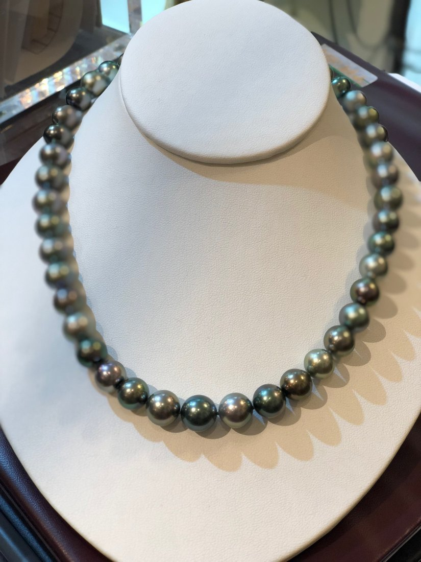 SOUTH SEA TAHITIAN PEARL DIAMOND NECKLACE - 4