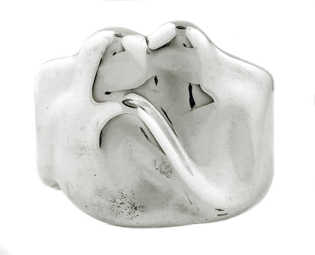 TIFFANY & CO. STERLING SILVER 'ZODIAC' CUFF