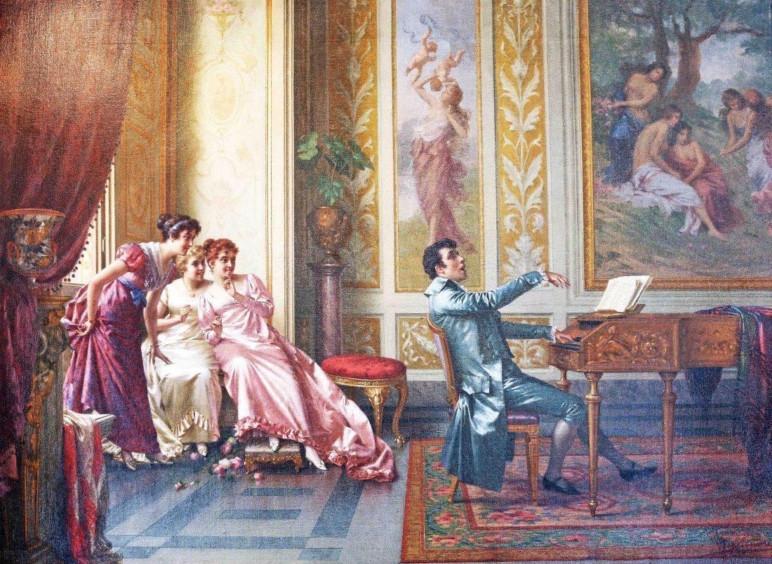 VITTORIO REGGIANINI ITALIAN, 1858-1938. LA ROMANZA