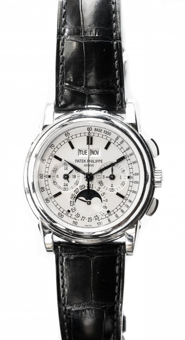 FINE PLATINUM WRISTWATCH PATEK PHILIPPE & CO.,GENEVA