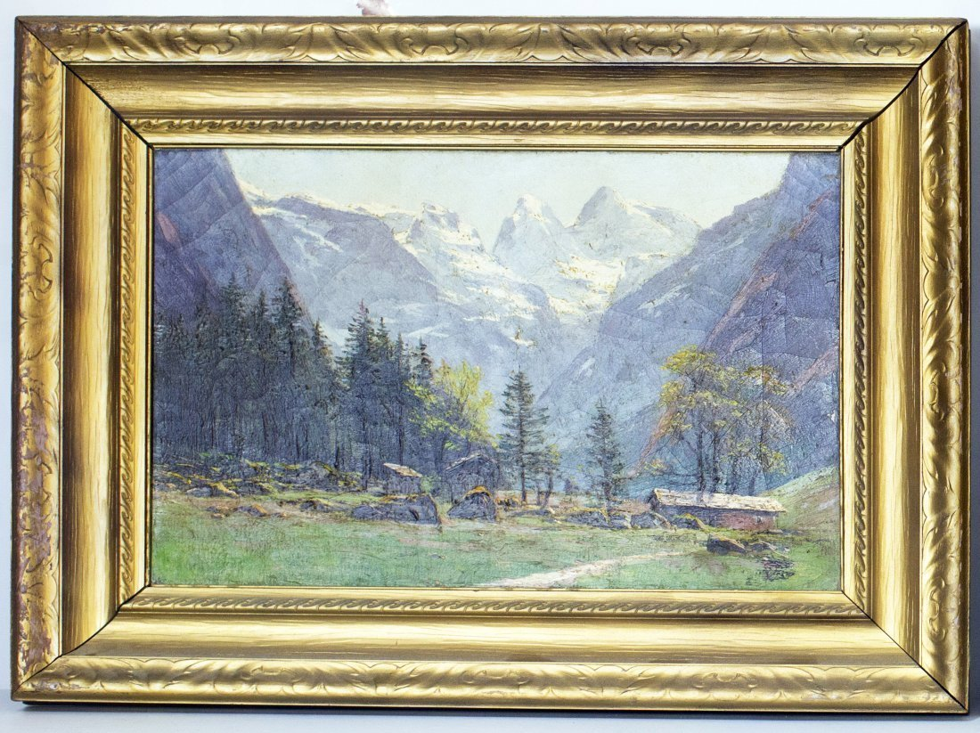 CONTINENTAL SCHOOL (19TH CENTURY) 'ALPINE LANDSCAPE' - 2