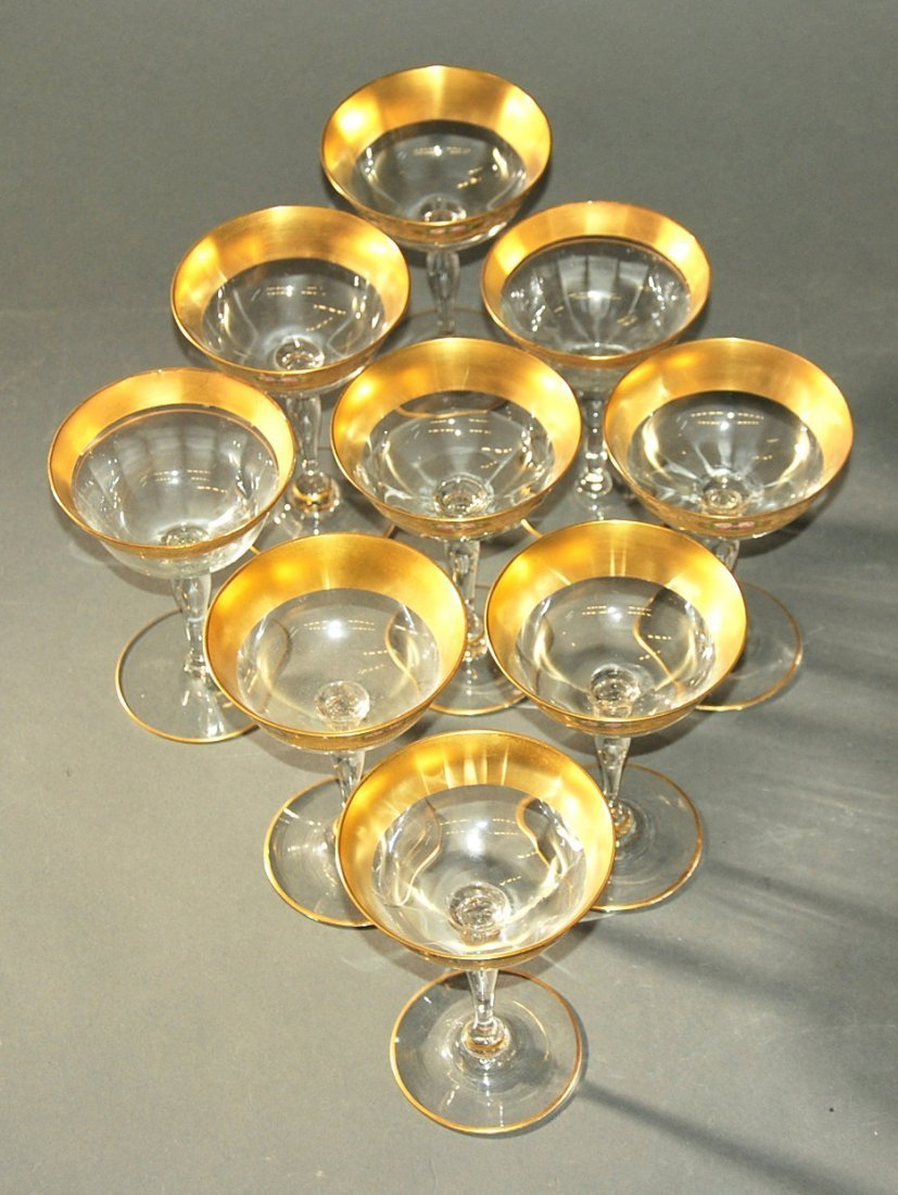ASSORTED GLASS STEMWARE - 4