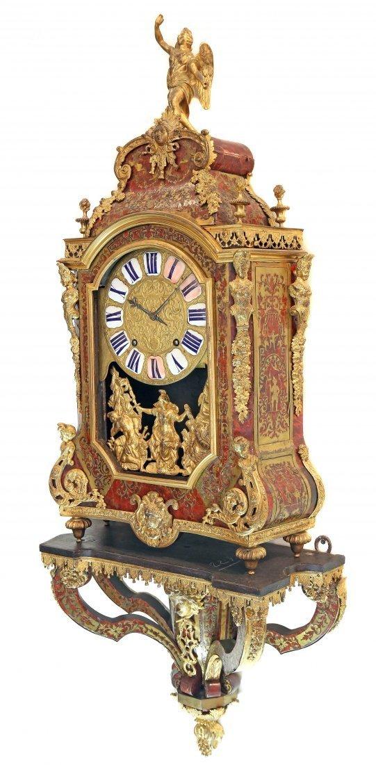 FRENCH REGENCE BOULLE INLAID ORMOLU BRACKET CLOCK