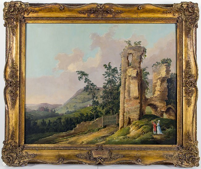 JOSEPH FARINGTON (1747-1821) RUINS OF ROSLYN CASTLE