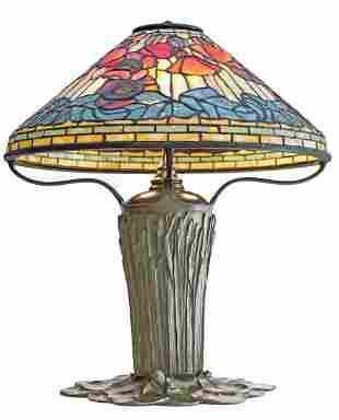 """IMPORTANT TIFFANY STUDIOS """"POPPY"""" TABLE LAMP"""