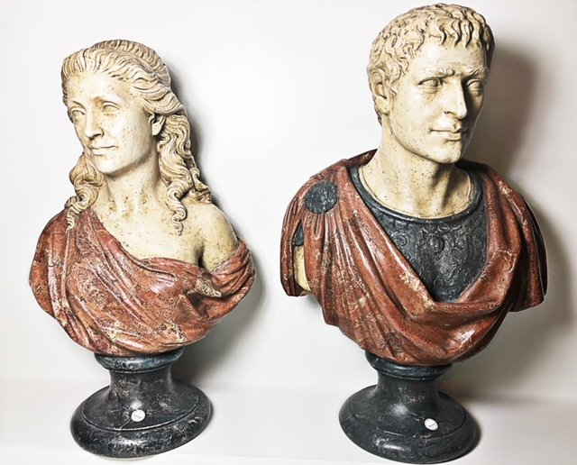 PAIR OF DECORATIVE BUSTS