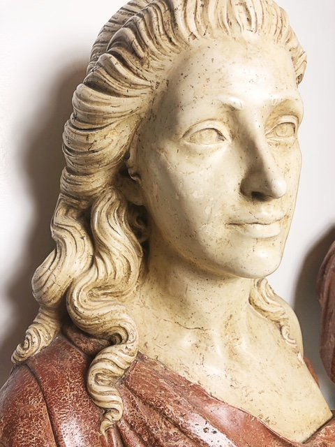 PAIR OF DECORATIVE BUSTS - 3