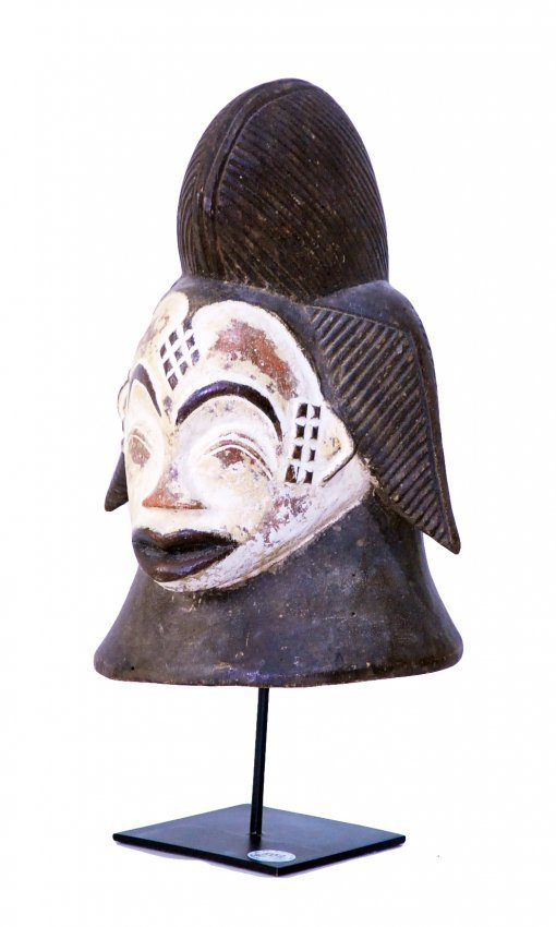 STYLE OF CEREMONIAL HELMET DANCE MASK - CARVED WOOD