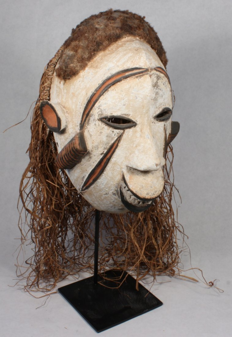 STYLE OF PEOPLE IDOMA NIGERIA CEREMONIAL DANCE MASK