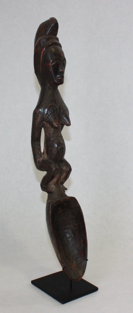 CEREMONIAL SPOON - CARVED WOOD.