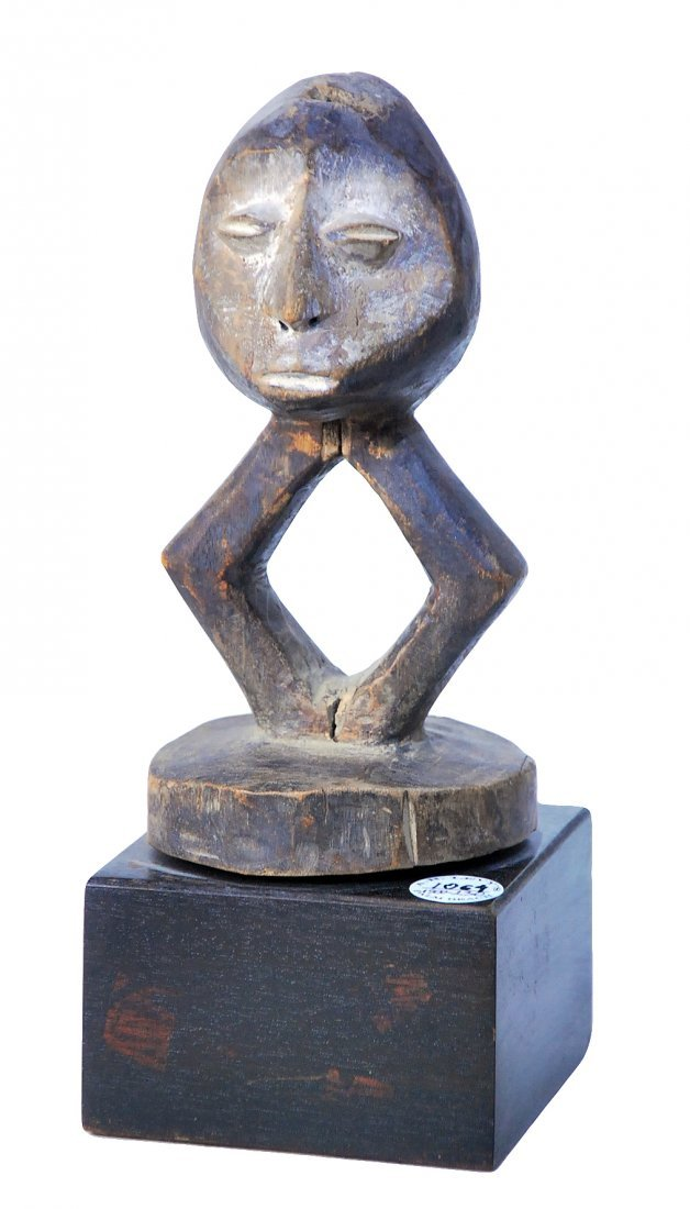 STYLE OF BWAMI SOCIETY JANUS TOTEM FIGURE CARVED WOOD