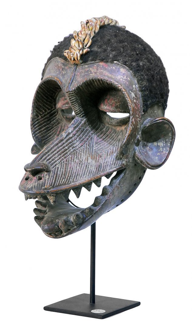 STYLE OF PEOPLE GREBO GUINEA CEREMONIAL DANCE MASK