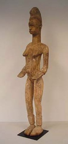STYLE OF FEMALE ANCESTRAL GUARDIAN FIGURE - CARVED WOOD