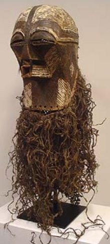 STYLE OF KIEFWEBE SOCIETY CEREMONIAL DANCE MASK