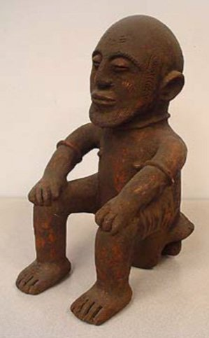 STYLE OF MALE MEMORIAL ANCESTRAL TOTEM FIGURE