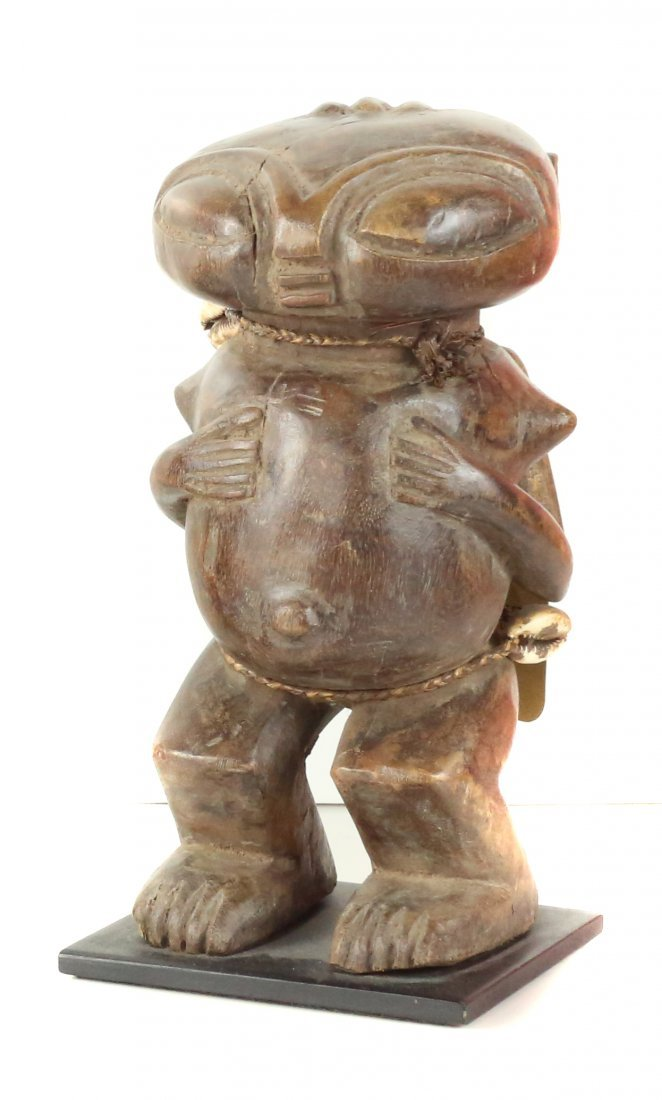STYLE OF FEMALE CEREMONIAL FERTILITY FIGURE CARVED WOOD