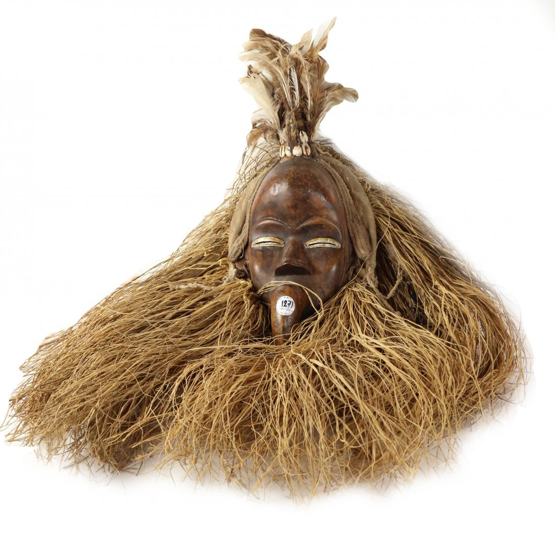 STYLE OF CEREMONIAL DANCE MASK - WOOD